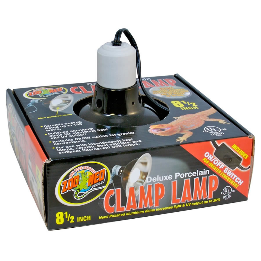 ZM Porcelain Clamp Lamp 22cm, LF12 Image